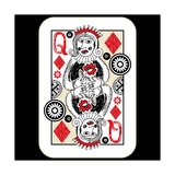Hand Drawn Deck Of Cards  Doodle Queen Of Diamonds