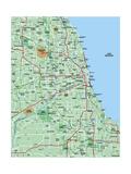 Greater Chicago Metropolitan Area Map