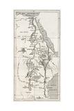 Nile Basin Old Map. By Unidentified Author, Published On Le Tour Du Monde, Paris, 1867 Reproduction d'art par Marzolino