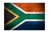 Weathered Flag Of South Africa  Fabric Textured