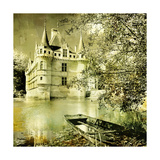 Castle On Water -Artwork In Painting Style