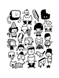 Funny Characters And Doodles Collection