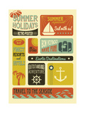 Summer Holidays Poster - Retro Style Summer Poster