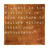 Inspirational Quote By Winston Churchill On Earthy Brown Background