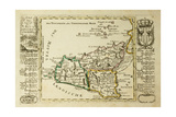 Sicily Old Map  May Be Dated To The Beginning Of The Xviii Sec