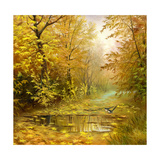 Beautiful Autumn Landscape  Canvas  Oil