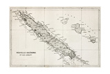 New Caledonia And Loyalty Island Old Map