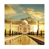 Taj Mahal Palace In India On Sunrise