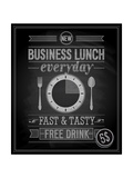 Bussiness Lunch Poster - Chalkboard