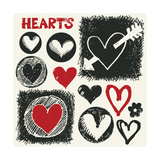 Sketchy Hearts  Hand Drawn Design Elements