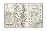 Old Map Of Northern Mexico And South-Western Usa