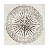 Wind Rose Old Illustration