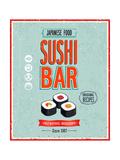 Vintage Sushi Bar Poster Reproduction d'art par Avean