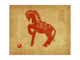 Chinese 2014 For Year Of Horse Design  Words Mean Happy New Year