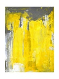Grey And Yellow Abstract Art Painting Reproduction d'art par T30Gallery