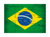 Brazilian Grunge Flag A Flag Of Brazil With A Texture