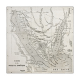 Old Map Of Sinai Peninsula Created By Erhard  Published On Le Tour Du Monde  Paris  1864