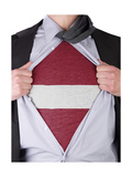Business Man With Latvian Flag T-Shirt
