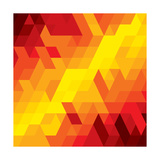 Abstract Colorful Of Diamond  Cube And Square Shapes