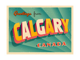 Vintage Touristic Greeting Card - Calgary  Canada