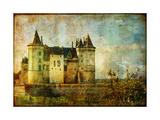 Beautiful Saumur Castle - Vintage Picture