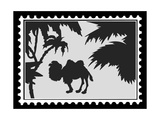 Silhouette Camel On Postage Stamps