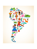 South America Love Reproduction d'art par Marish
