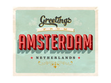 Vintage Touristic Greeting Card - Amsterdam  Netherlands