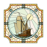 Illustration Of Sailing Ships Of The 17Th Century