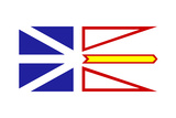 Illustration Of Canadian State Of Newfoundland And Labrador State Flag  White Background