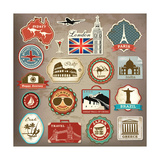 Collection Of Vintage Retro Grunge Vacation And Travel Labels  Labels  Badges And Icons