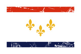 New Orleans City Flag  State Of Louisiana  USA