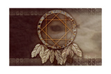 American Dreamcatcher With Wolf Eye