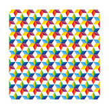 Seamless Abstract Colorful Of Star Shapes