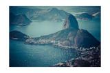 Rio De Janeiro  Brazil Suggar Loaf And Botafogo Beach Viewed From Corcovado