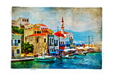 Beautiful Kastelorizo Bay (Greece  Dodecanes) - Artwork In Painting Style