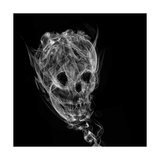 Skull Made Up Of Smoke  Black Background