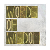 """Earthy Background Image And Design Element Depicting The Words """"Words Of Wisdom"""""""
