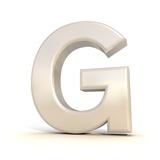 3D Alphabet  Letter G Isolated On White Background