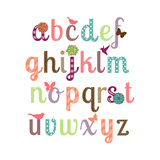 Girly Alphabet Set Reproduction d'art par Pink Pueblo
