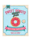 Vintage Donuts Poster