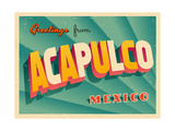 Vintage Touristic Greeting Card - Acapulco  Mexico