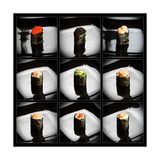 Set Of 9 Different Gunkanmaki (Sushi)