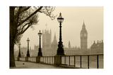Big Ben And Houses Of Parliament  London In Fog
