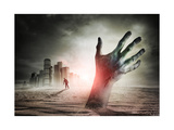 Zombie Rising A Hand Rising From The Ground!