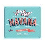 Vintage Greeting Card From Havana - Cuba