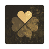 Grunge Lucky Clover Leaf