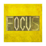 "Earthy Background Image And Design Element Depicting The Word ""Focus"""