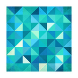 Abstract Colorful Triangles Reproduction d'art par Art_of_sun