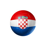 Soccer Football Ball With Croatia Flag